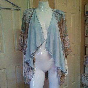 Vintage Spencer Alexis Drape Front Kimono Blouse
